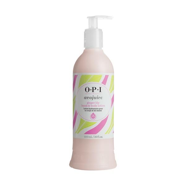 OPI Лосьон для рук Имбирная лилия / AVOJUICE 600млЛосьоны<br>Лосьоны Аводжус обеспечат необходимый тонус вашей коже и защиту от токсинов на весь день. Натуральные фруктовые и растительные экстракты мгновенно увлажняют и питают кожу, витамины-антиоксиданты предотвращают ее старение. Формула лосьона быстро абсорбируется поверхностью кожи, делая ее шелковистой и мягкой.<br><br>Назначение: Старение