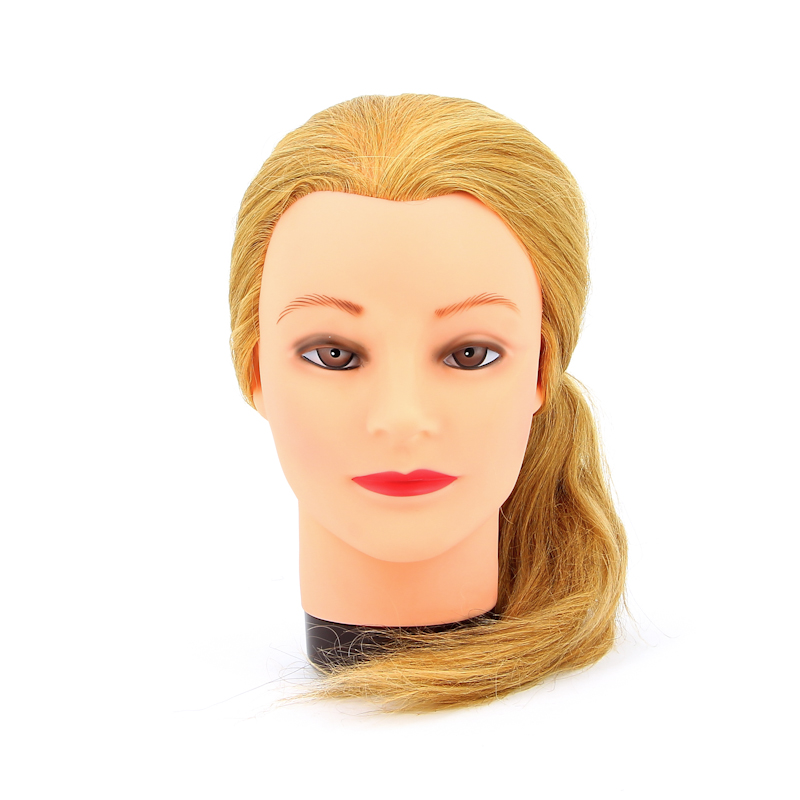 DEWAL PROFESSIONAL Голова учебная блондинка, натуральные волосы 45-50см манекен голова для причесок оптом