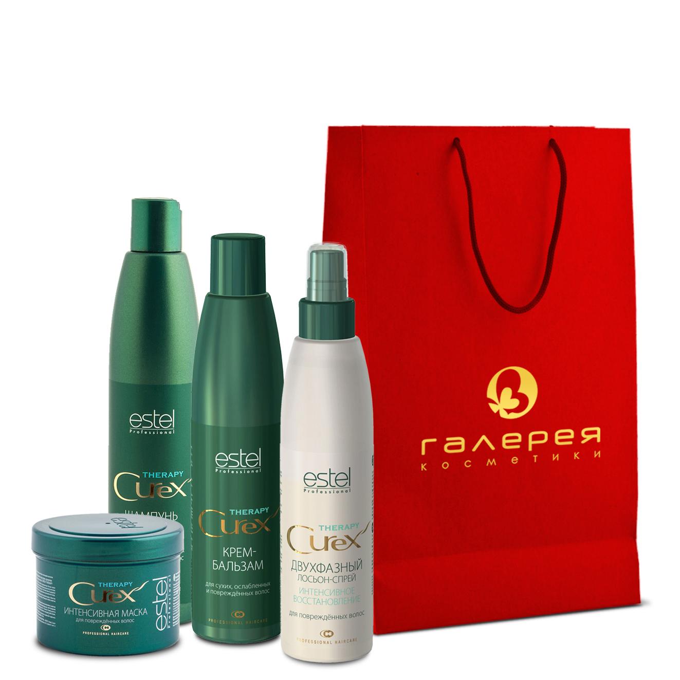 ESTEL PROFESSIONAL Набор Послушные волосы / Curex Therapy estel professional шампунь для окрашенных волос curex color save 300мл