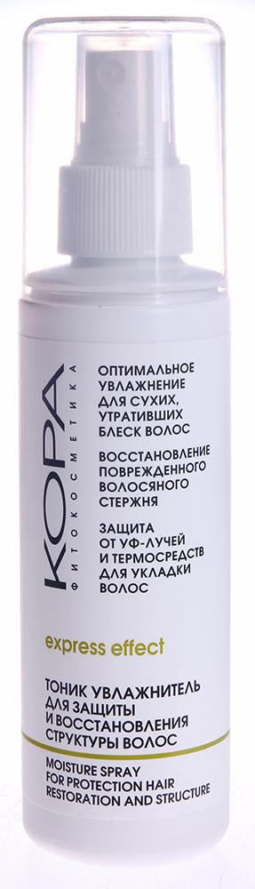 КОРА Тоник увлажнитель для защиты и восстановления структуры волос 150млТоники<br>Действие: увлажняет (не создавая эффекта &amp;laquo;мокрых волос&amp;raquo;) и питает волосы, восстанавливает их структуру, успокаивает раздраженную кожу головы, создает солнцезащитный экран (что особенно необходимо в весенне-летний период года), улучшает эластичность и прочность волос, облегчает укладку и расчесывание, защищает волосы от пересушивания горячим воздухом фена и сухого воздуха в помещениях. Активные ингредиенты: одуванчик, лист земляники, подсолнечник, крапива, сладкий миндаль, коллаген, Д-Пантенол, Aqua, Sodium PCA, Glycerin, Pantenol, Dimethicone Copolyol, Helianthus Annuus (Sunflower) Leaf Ex, Avena Sativa (Oat) Kernel Ex, Urtica Dioica Ex, Taraxacum Officinale (Dandelion) Ex, Fragaria Vesca (Strawberry) Leaf Ex, PEG-40 Hydrogenated Castor Oil, Gelatine, Benzyl Alcohol, Methylchloroisothiazoline, Methylisothiazoline, Parfum. Способ применения: равномерно нанести на волосы перед сушкой и после укладки волос.<br><br>Вид средства для волос: Солнцезащитный