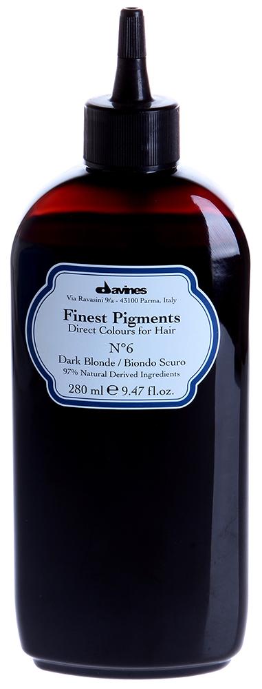 DAVINES SPA Краска для волос Прямой пигмент  6 Dark Blonde-Темный блонд / FINEST PIGMENTS 280мл