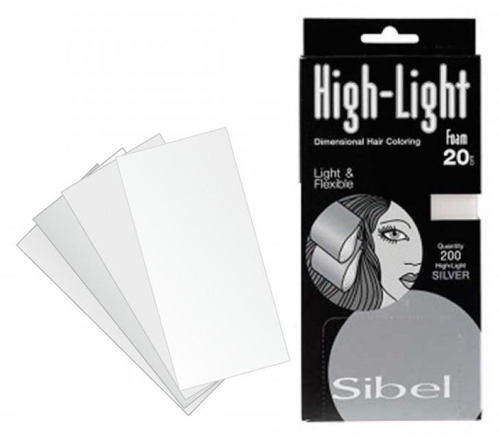 Купить SIBEL Бумага для мелирования 9, 5*30 см 200 листов (серебро)