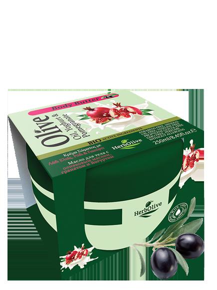 MADIS Масло для тела с йогуртом и экстрактом граната / HerbOlive 250мл