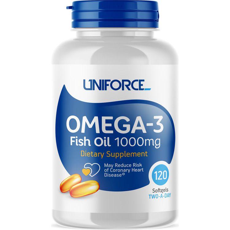 Купить UNIFORCE Добавка биологически активная к пище / Omega-3 1000 мг 120 капсул