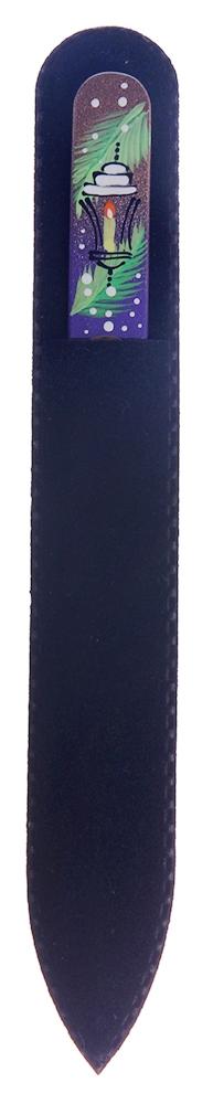 """BOHEMIA PROFESSIONAL Пилочка стеклянная с рисунком """"Новый год"""" 135мм"""