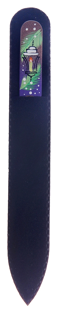BHM PROFESSIONAL Пилочка стеклянная с рисунком, Новый год 135 мм BOHEMIA PROFESSIONAL