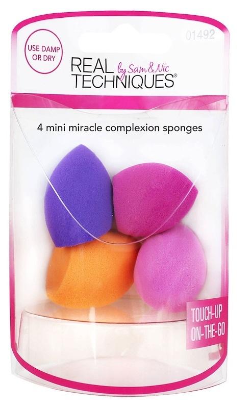 REAL TECHNIQUES Набор из четырех мини спонжей / 4 Miracle Mini Complexion Sponges