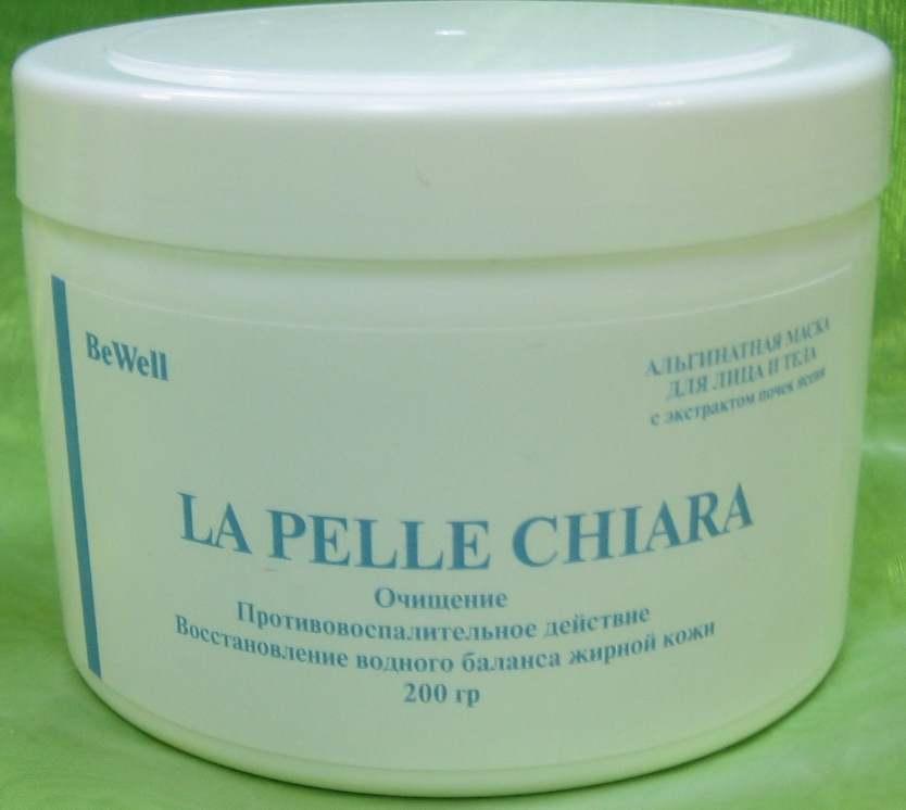 HORTUS FRATRIS Маска альгинатная с экстрактом почек ясеня для лица и тела / LA PELLE CHIARA 200грМаски<br>Оказывает противовоспалительное и очищающее действие. Восстанавливает водный баланс жирной кожи. Активные ингредиенты: Альгинат натрия, белая глина, экстракт почек ясеня, С.I.42090. Способ применения: Порошок альгинатной маски непосредственно перед применением необходимо развести водой комнатной температуры в соотношении 1:3. Замешивать альгинатную маску важно без комочков и наносить быстро, чтобы она не успела застыть. По своей консистенции маска должна напоминать густую сметану. Маска наносится на кожу плотным слоем при помощи шпателя. Через 25-30 минут снять маску единым пластом снизу вверх, предварительно слегка отсоединив ее от кожи по краям.<br>