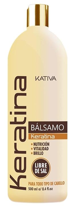 Купить KATIVA Бальзам-кондиционер укрепляющий с кератином для всех типов волос / KERATINA 500 мл