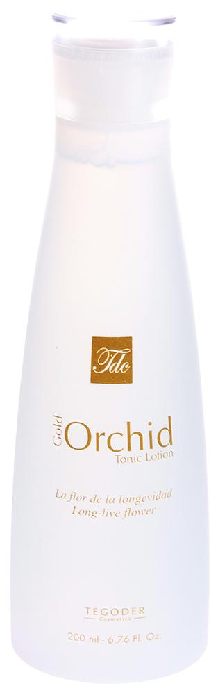 """TEGOR Лосьон тоник с хлопком """"Золотая орхидея"""" / GOLD ORCHID COTTON 200мл"""