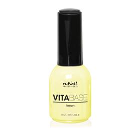 RuNail Основа для гель-лака с лимоном / VitaBase Lemon 15мл -  Базовые покрытия