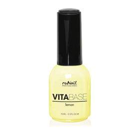 RuNail Основа для гель-лака с лимоном / VitaBase Lemon 15мл