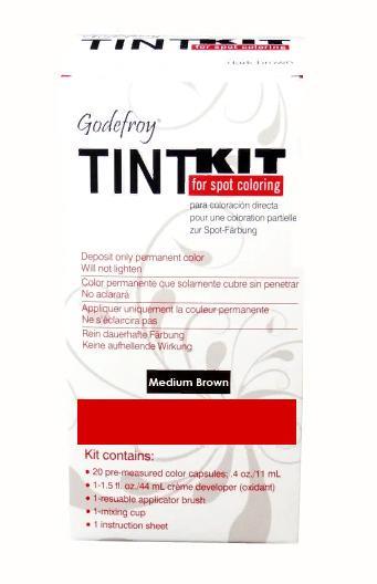 GODEFROY Краска-хна в капсулах для бровей, набор проф (средне-коричневый) (L) / Godefroy PRO KIT Medium Brown