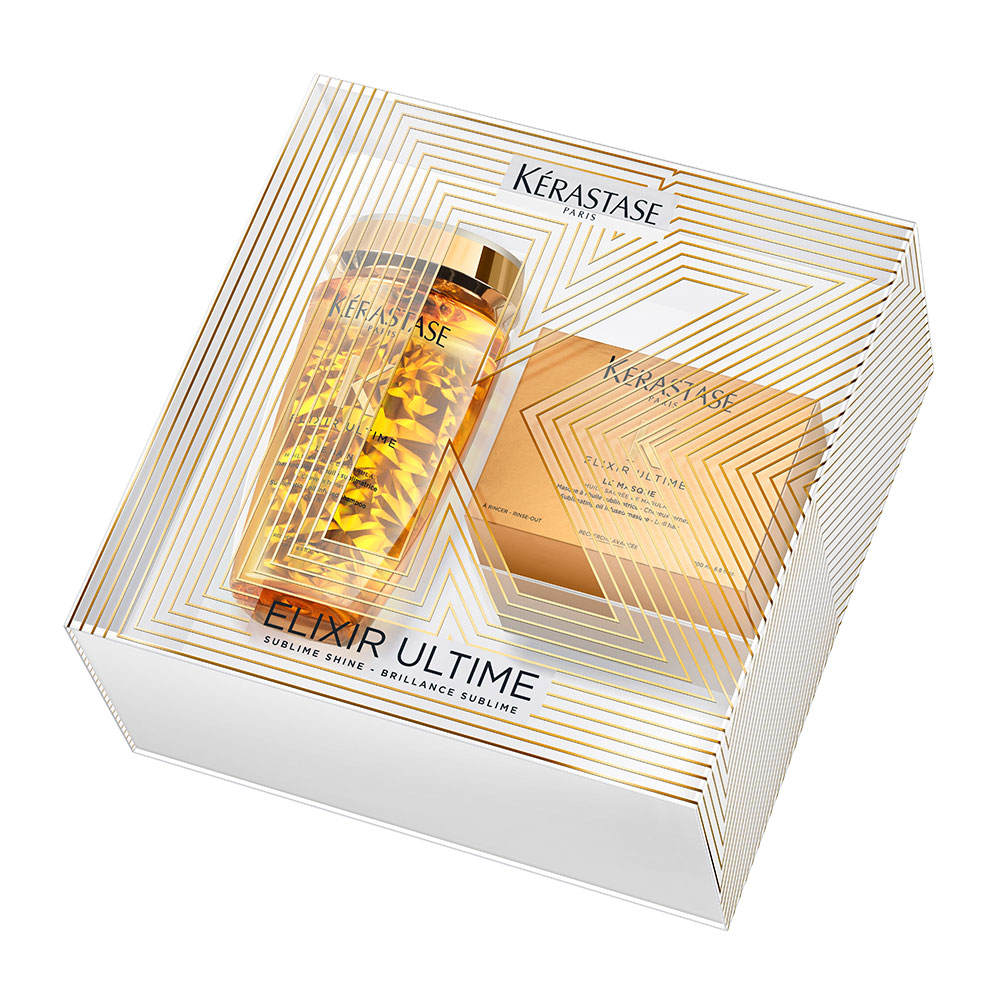 Купить KERASTASE Набор Весна для здоровья и блеска волос (шампунь-ванна 250 мл, маска 200 мл) Elixir Ultime