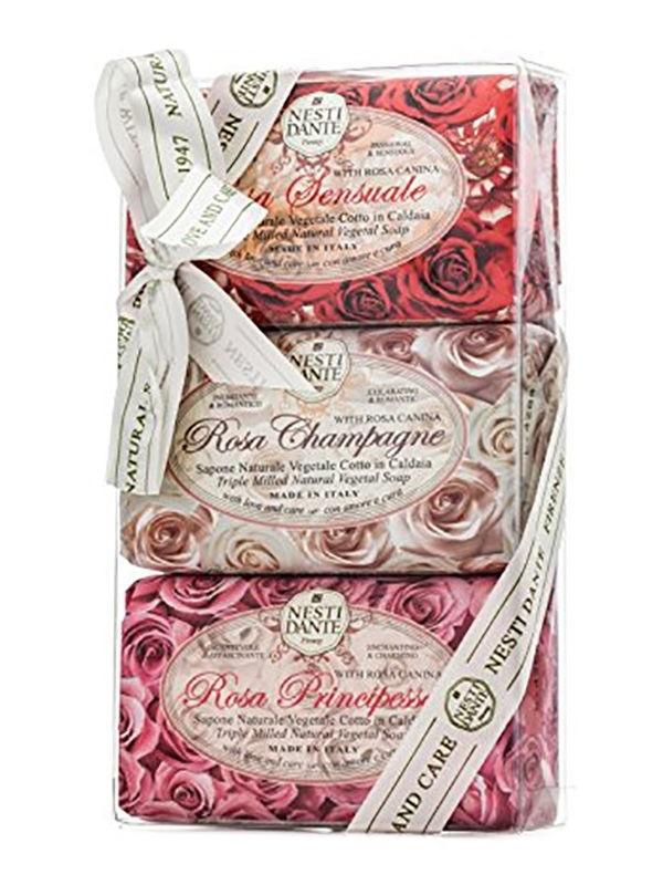 NESTI DANTE Набор мыла для тела Роза / Rosa Gift Kit 3*150 г