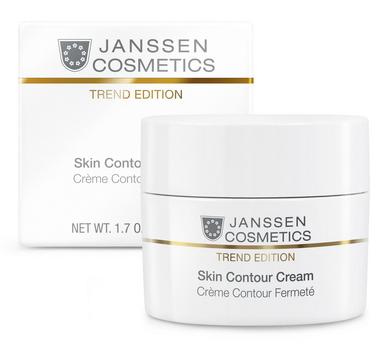 JANSSEN Крем-лифтинг anti-age обогащенный / Skin Contour Cream TREND EDITION 50млКремы<br>Насыщенный крем отличается инновационным ингредиентным составом с научно подтвержденной эффективностью. Пептиды ESP стимулируют синтез эластина и ремоделируют овал лица, в то время как растительный комплекс SORR, воздействуя на хромофоры кожи, борется с нарушением пигментации. Всего за два месяца ухода кожа заметно подтягивается, приобретает ощутимую упругость и сияющий оттенок! Активные ингредиенты: ESP (стимулирующие синтез эластина пептиды), SORR (высокоактивный растительный комплекс экстрактов Siegesbeckia orientalis и Rabdosia rubescens), гиалуроновая кислота с короткой и длинной цепью, японский шелк, масло макадамии, ISIS, витамины A и Е. Способ применения: наносите Skin Contour Cream на предварительно очищенную кожу лица и шеи утром и/или вечером. В салоне применять согласно регламенту процедуры.<br>