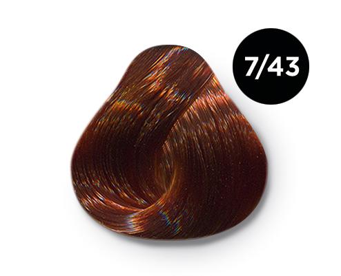 Купить OLLIN PROFESSIONAL 7/43 краска для волос, русый медно-золотистый / OLLIN COLOR 100 мл