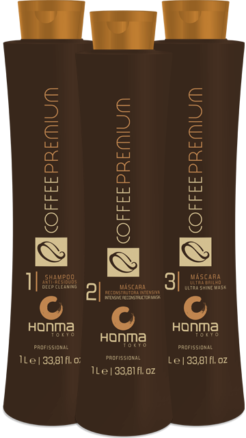 Купить HONMA TOKYO Набор для выпрямления сильно вьющихся, кудрявых волос (шампунь 1000 мл, кератин 1000 мл, маска 1000 мл) Coffee Premium All Liss
