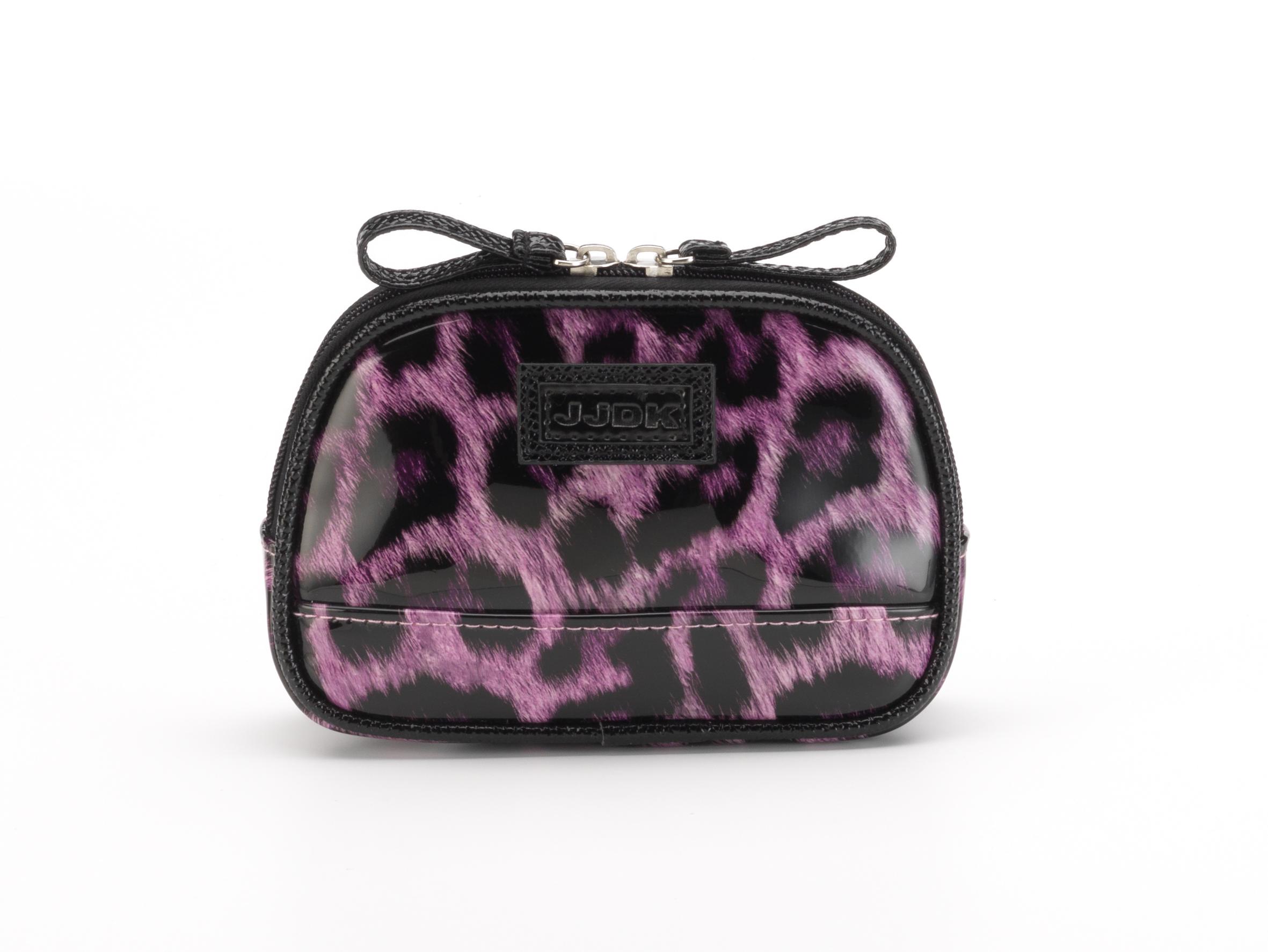 JJDK Косметичка Oda leopard pink запечатанный хлопок, леопард розовый