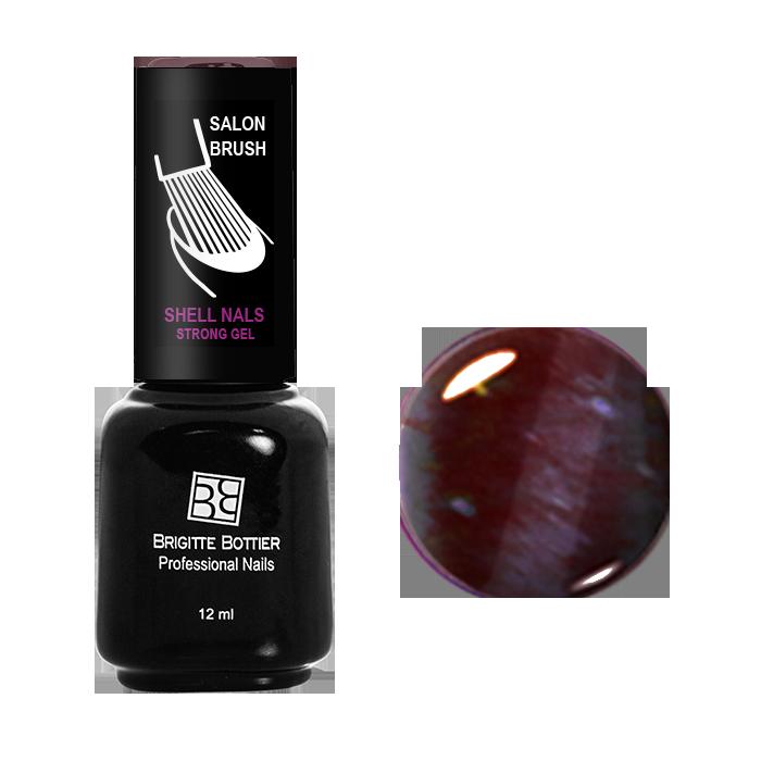 BRIGITTE BOTTIER 952 гель-лак магнитный для ногтей, бордовый кошачий глаз / Shell Nails 12 мл