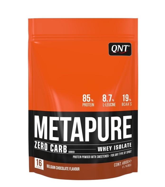 Купить QNT Добавка биологически активная к пище Метапьюр зеро карб, бельгийский шоколад / ZERO CARB METAPURE Belgian Chocolate 480 г