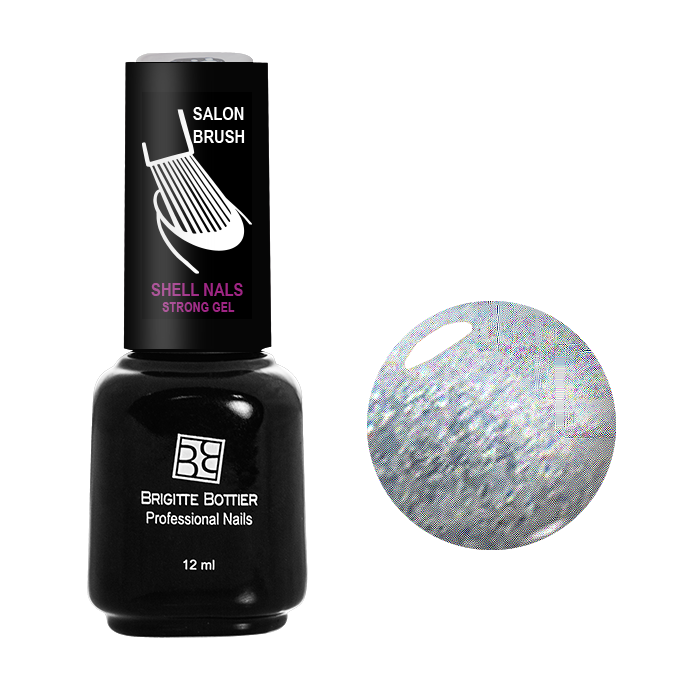 BRIGITTE BOTTIER 915 гель-лак для ногтей & Серебряный&  / Shell Nails 12мл -  Гель-лаки