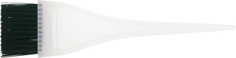 DEWAL PROFESSIONAL Кисть для окрашивания узкая белая, короткая, с черной прямой щетиной 35мм