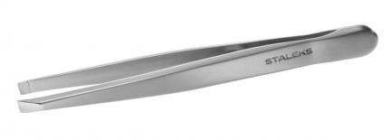 STALEKS Пинцет для бровей T4-10-01, широкие прямые кромки