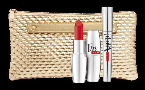 PUPA Набор продуктов для макияжа / VAMP! MASCARA & I'M 9 мл + 3,5 г тушь для ресниц isadora hypo allergenic mascara 02