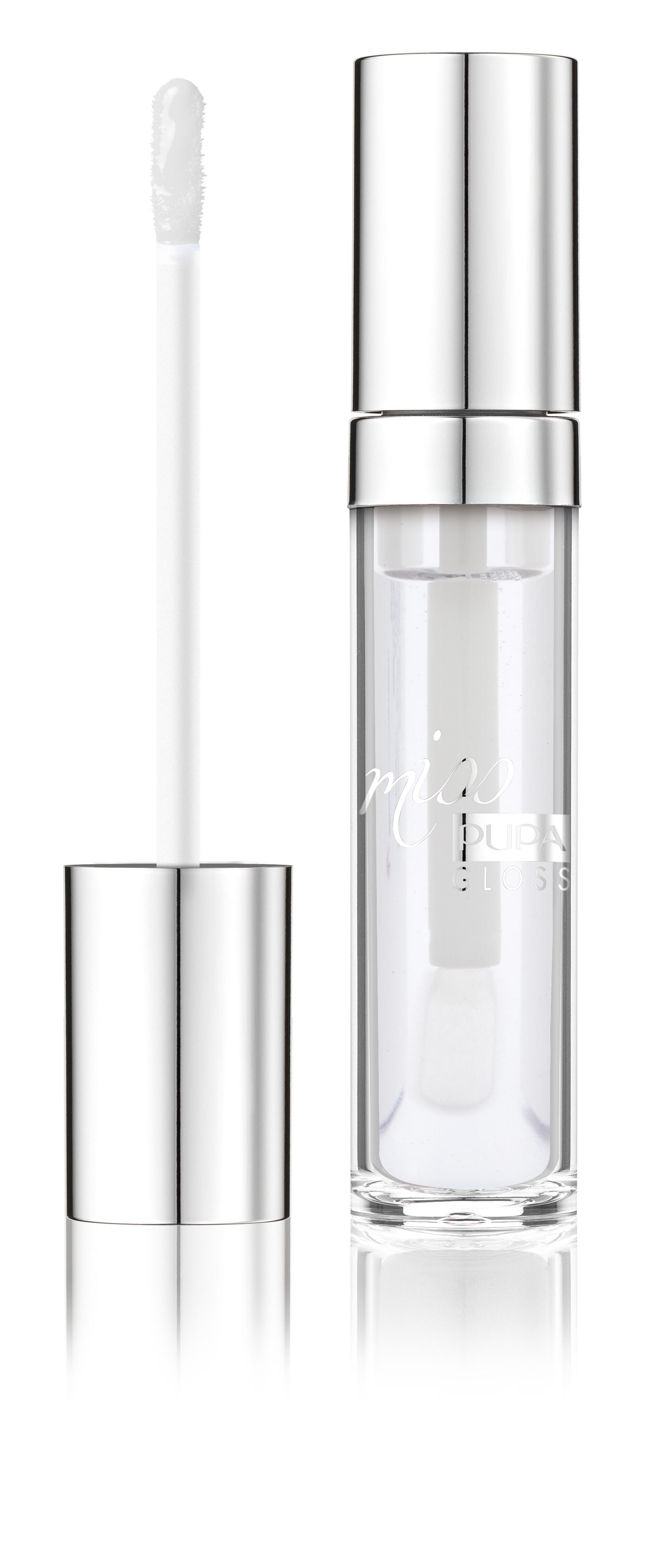 PUPA Блеск для губ, 100 Кристальный стеклянный / MISS PUPA GLOSS 5 мл