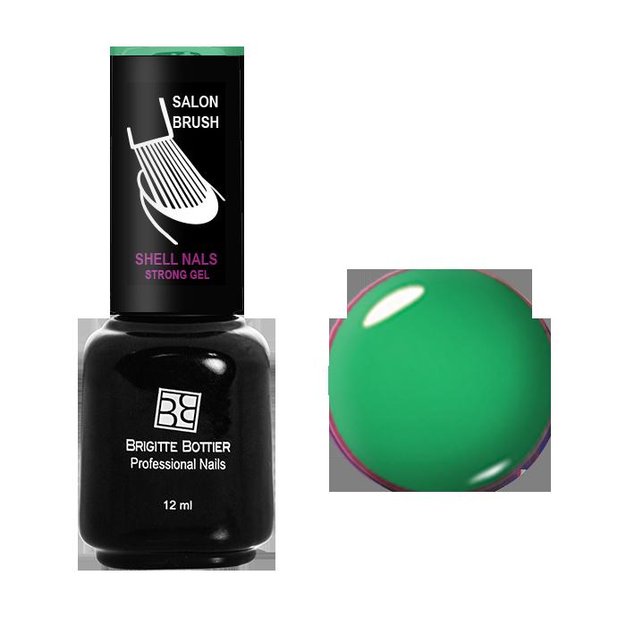 BRIGITTE BOTTIER 973 гель-лак для ногтей Неоновый зеленый / Shell Nails 12мл