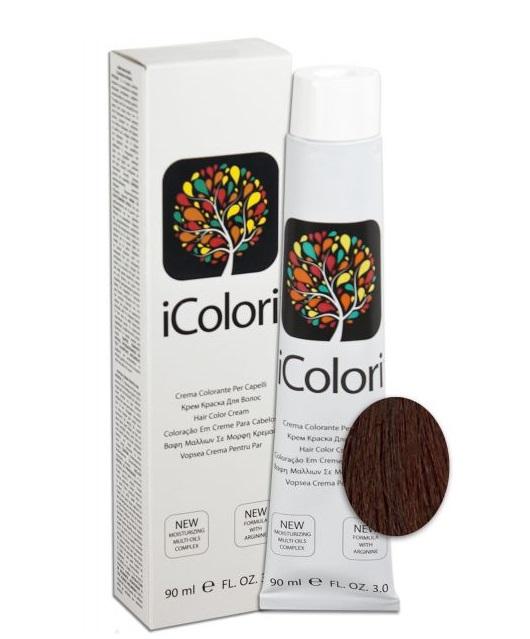 KAYPRO 6.5 краска для волос, темно-русый красное дерево / ICOLORI 90 мл