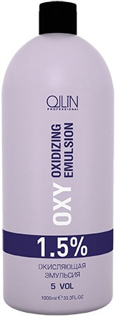 OLLIN PROFESSIONAL Эмульсия окисляющая 1,5% (5vol) / Oxidizing Emulsion OLLIN performance OXY 1000 мл
