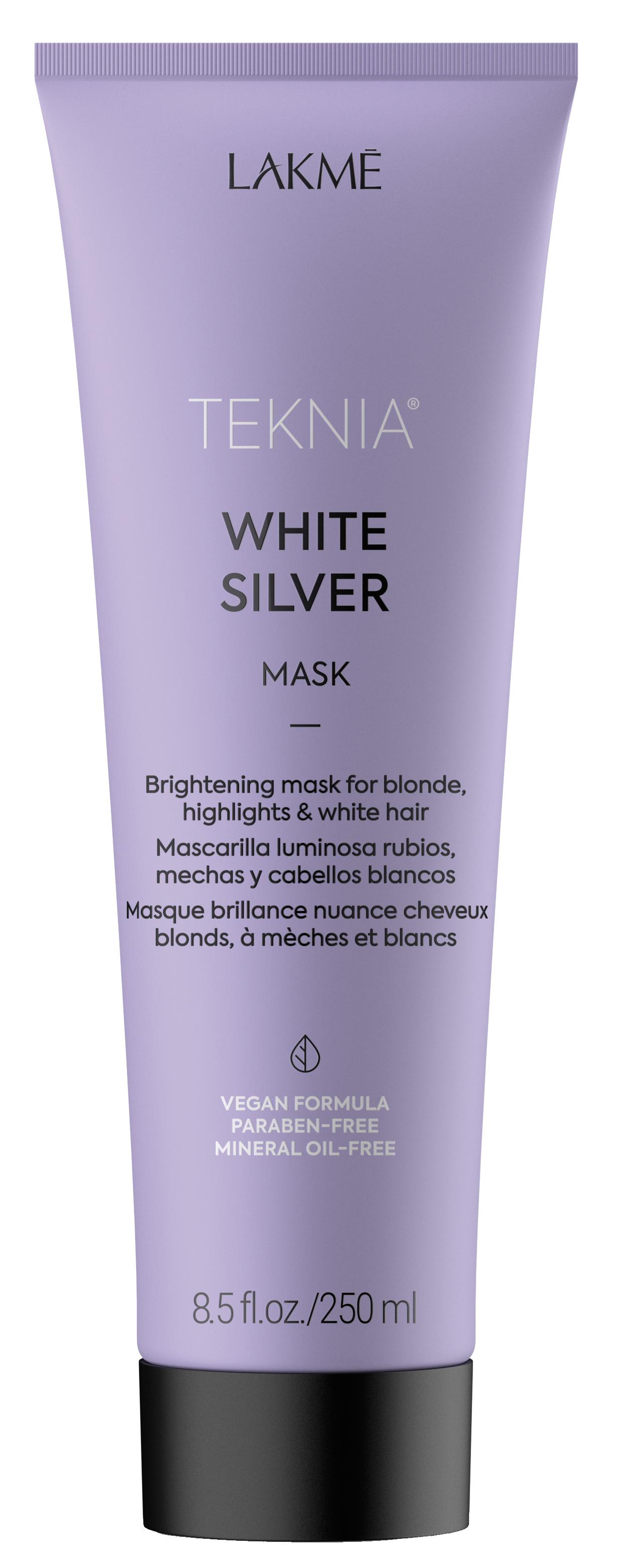 Купить LAKME Маска тонирующая для нейтрализации желтого оттенка волос / WHITE SILVER MASK 250 мл