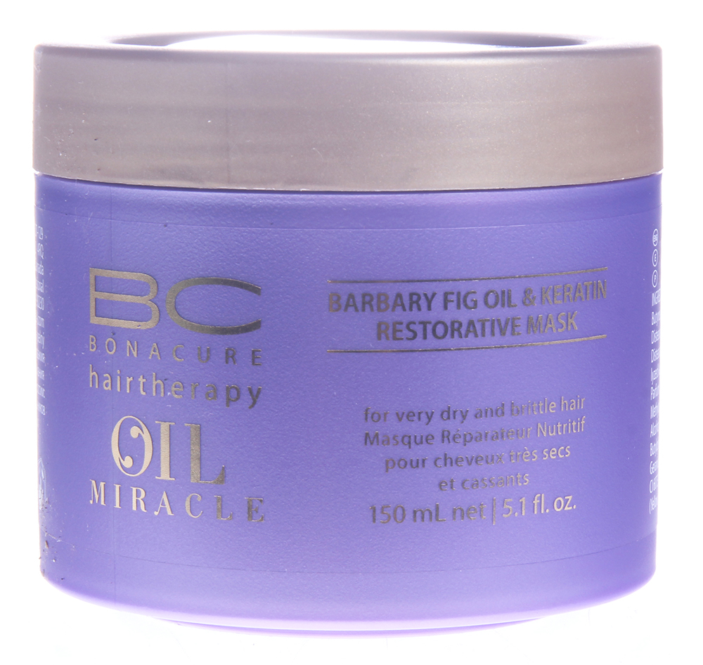 SCHWARZKOPF PROFESSIONAL Маска восстанавливающая / BC OIL MIRACLE BARBARY FIG OIL 150 мл schwarzkopf bc oil miracle brazilnut oil in shampoo шампунь с маслом бразильского ореха 1000 мл