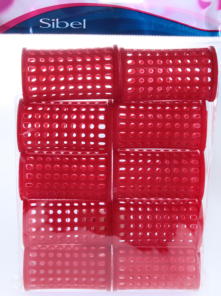 SIBEL Бигуди пласт. 40мм красн 10 шт/уп SibelБигуди<br>Бигуди пластмассовые Sibel PLASTIC LONG 4600832, длинные, 75 мм, диаметр 40 мм. Упаковка: 10 шт. Цвет: красный.<br>