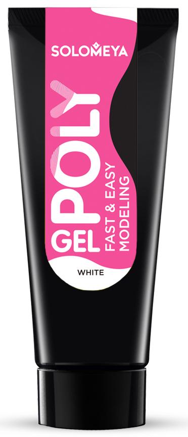 SOLOMEYA Поли-гель белый для моделирования ногтей PG01 / Polygel Fast & Easy Modeling 30 мл - Наращивание