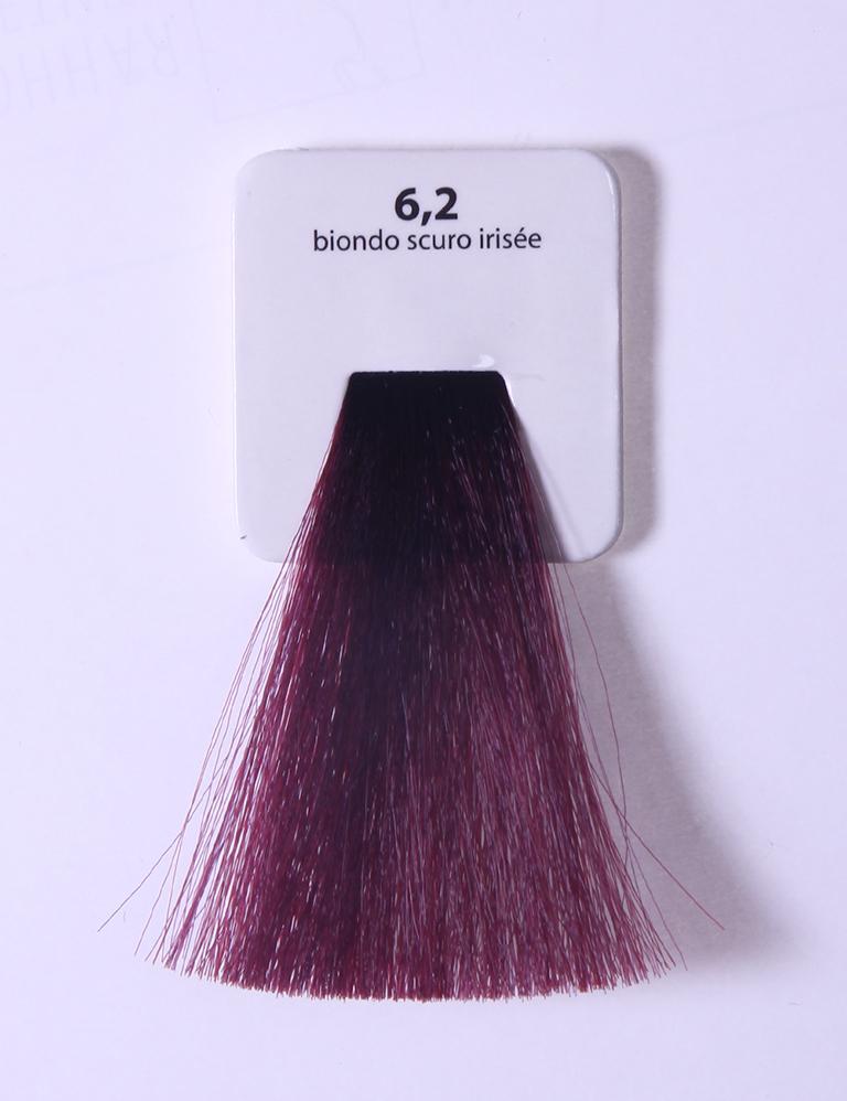 KAARAL 6.2 краска для волос / Sense COLOURS 100млКраски<br>6.2 темный фиолетовый блондин Перманентные красители. Классический перманентный краситель бизнес класса. Обладает высокой покрывающей способностью. Содержит алоэ вера, оказывающее мощное увлажняющее действие, кокосовое масло для дополнительной защиты волос и кожи головы от агрессивного воздействия химических агентов красителя и провитамин В5 для поддержания внутренней структуры волоса. При соблюдении правильной технологии окрашивания гарантировано 100% окрашивание седых волос. Палитра включает 93 классических оттенка. Способ применения: Приготовление: смешивается с окислителем OXI Plus 6, 10, 20, 30 или 40 Vol в пропорции 1:1 (60 г красителя + 60 г окислителя). Суперосветляющие оттенки смешиваются с окислителями OXI Plus 40 Vol в пропорции 1:2. Для тонирования волос краситель используется с окислителем OXI Plus 6Vol в различных пропорциях в зависимости от желаемого результата. Нанесение: провести тест на чувствительность. Для предотвращения окрашивания кожи при работе с темными оттенками перед нанесением красителя обработать краевую линию роста волос защитным кремом Вaco. ПЕРВИЧНОЕ ОКРАШИВАНИЕ Нанести краситель сначала по длине волос и на кончики, отступив 1-2 см от прикорневой части волос, затем нанести состав на прикорневую часть. ВТОРИЧНОЕ ОКРАШИВАНИЕ Нанести состав сначала на прикорневую часть волос. Затем для обновления цвета ранее окрашенных волос нанести безаммиачный краситель Easy Soft. Время выдержки: 35 минут. Корректоры Sense. Используются для коррекции цвета, усиления яркости оттенков, создания новых цветовых нюансов, а также для нейтрализации нежелательных оттенков по законам хроматического круга. Содержат аммиак и могут использоваться самостоятельно. Оттенки: T-AG - серебристо-серый, T-M - фиолетовый, T-B - синий, T-RO - красный, T-D - золотистый, 0.00 - нейтральный. Способ применения: для усиления или коррекции цвета волос от 2 до 6 уровней цвета корректоры добавляются в краситель по Правилу п