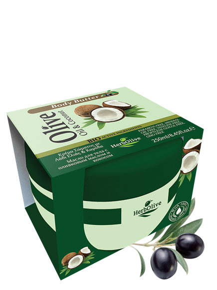 MADIS Масло с кокосом для тела / HerbOlive 250 мл