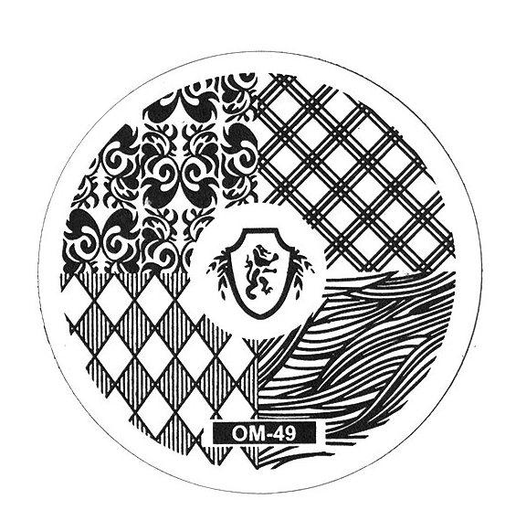 TNL PROFESSIONAL Трафарет металлический малый для стемпинга Ассорти (в индивидуальной упаковке)