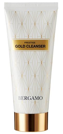 BERGAMO Пенка очищающая с золотом для лица 120 мл