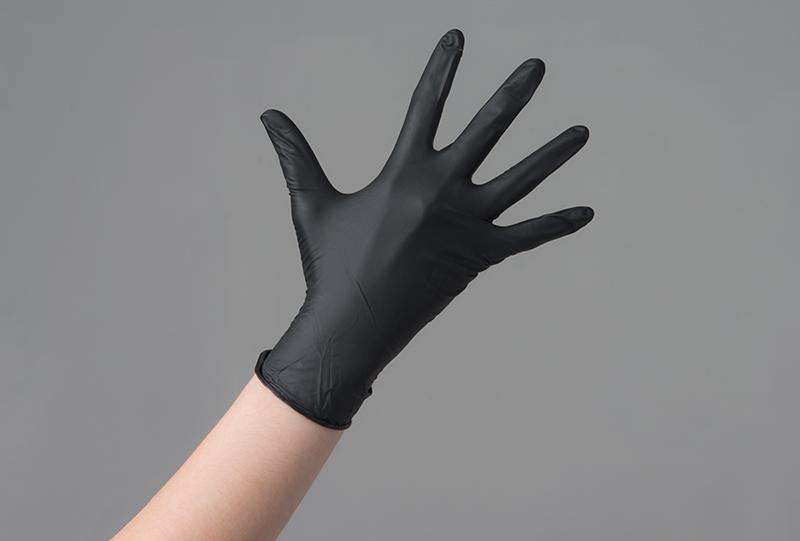 ЧИСТОВЬЕ Перчатки нитриловые чёрный & M&  100шт/упк -  Перчатки