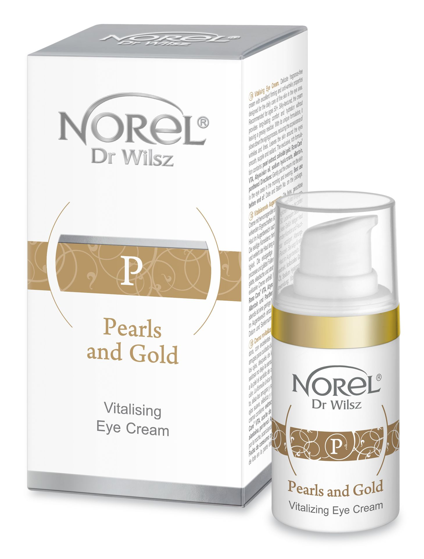 NOREL Dr. Wilsz Эмульсия восстанавливающая для зрелой кожи вокруг глаз / Pearls and Gold Vitalizing eye cream 15 мл - Эмульсии