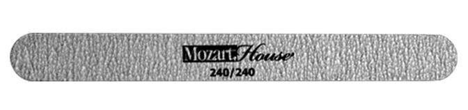 MOZART HOUSE Пилка профессиональная на деревянной основе зебра прямая 240/240