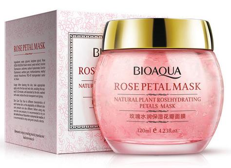 BIOAQUA Маска смягчающая ночная с лепестками роз для лица 120 г