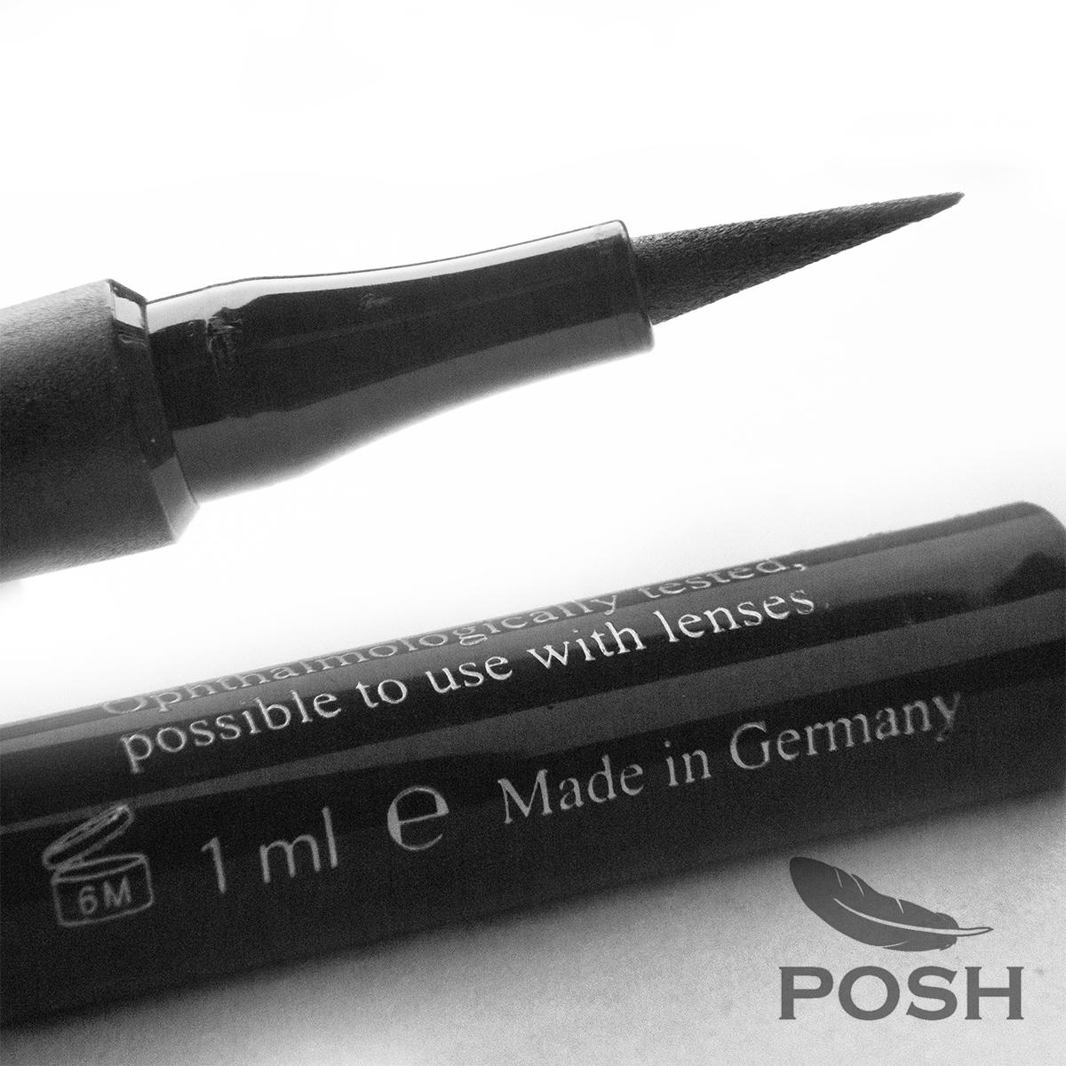 POSH Подводка-фломастер водостойкая, черный