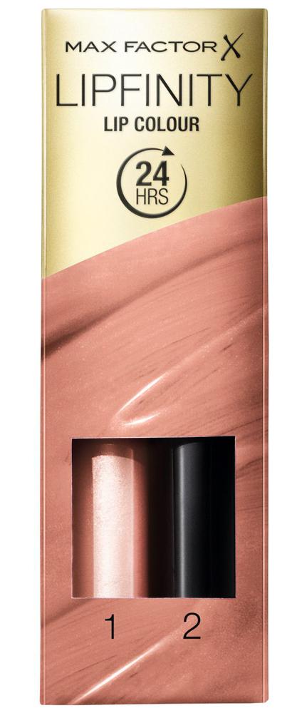 Купить со скидкой MAX FACTOR Помада губная стойкая и увлажняющий блеск 006 / Lipfinity always delicate