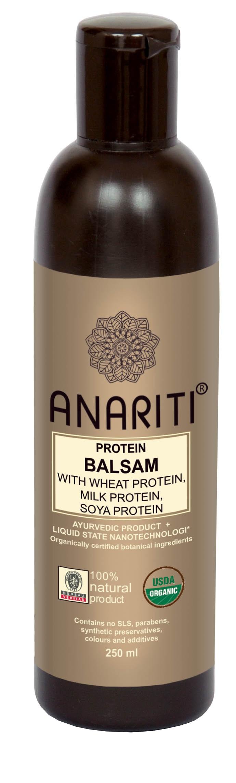 ANARITI Бальзам протеиновый на основе протеинов пшеницы, молока и сои 250 мл