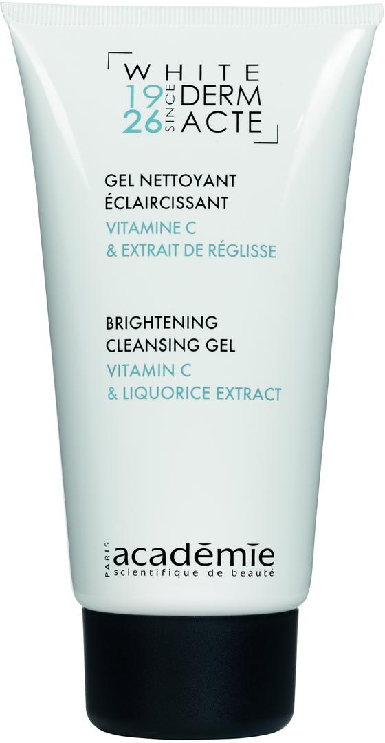 ACADEMIE Гель осветляющий очищающий / WHITE DERM ACTE 150млГели<br>Гель для всех типов кожи, осложненных пигментацией. Очищает кожу от загрязнений и макияжа, осветляет пигментации. Не вызывает ощущения стянутости и раздражения. Рекомендуется использовать в комплексном осветляющем уходе для достижения максимального результата. Результат: Чистая и свежая кожа, оттенок кожи улучшен. Активные ингредиенты: витамин С 0.14%; экстракт лакрицы 0.10%; мягкий очищающий агент 4.85%. Способ применения:&amp;nbsp;немного геля вспенить в руках, нанести на кожу лица, избегая области век, провести легкий массаж в течение минуты. Смыть теплой водой, приступить к тонизированию.<br>