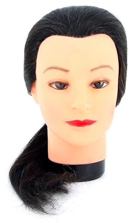 DEWAL PROFESSIONAL Голова учебная брюнетка, натуральные волосы 45-50 см